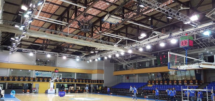 alquiler iluminación cancha de baloncesto