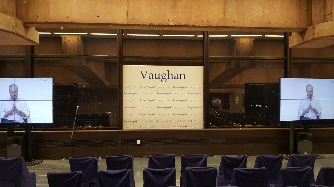 alquiler equipo audiovisual Madrid Grupo vaughan