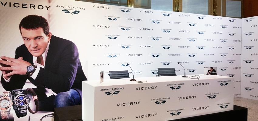 alquiler sonido para rueda de prensa Viceroy Antonio Banderas